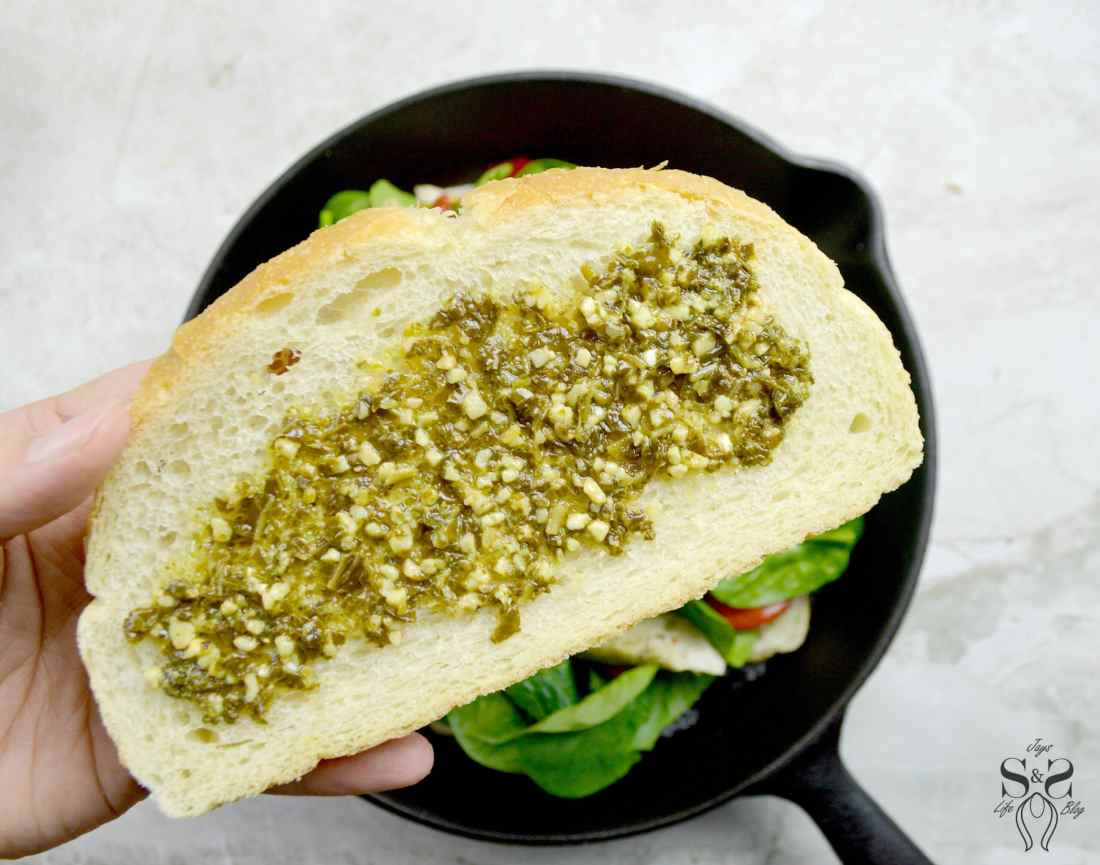 Turkey Pesto Grilled Cheese Step 6, If you are looking for that restaurantquality bistro sandwich, look no further. Bring the bistro home when you try my Turkey Pesto Grilled Cheese.