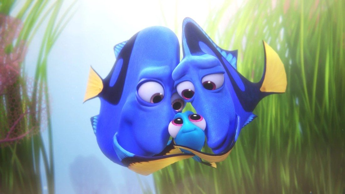 FINDING DORY – Pictured (L-R): Charlie, Dory, Jenny. ©2016 Disney•Pixar. All Rights Reserved.