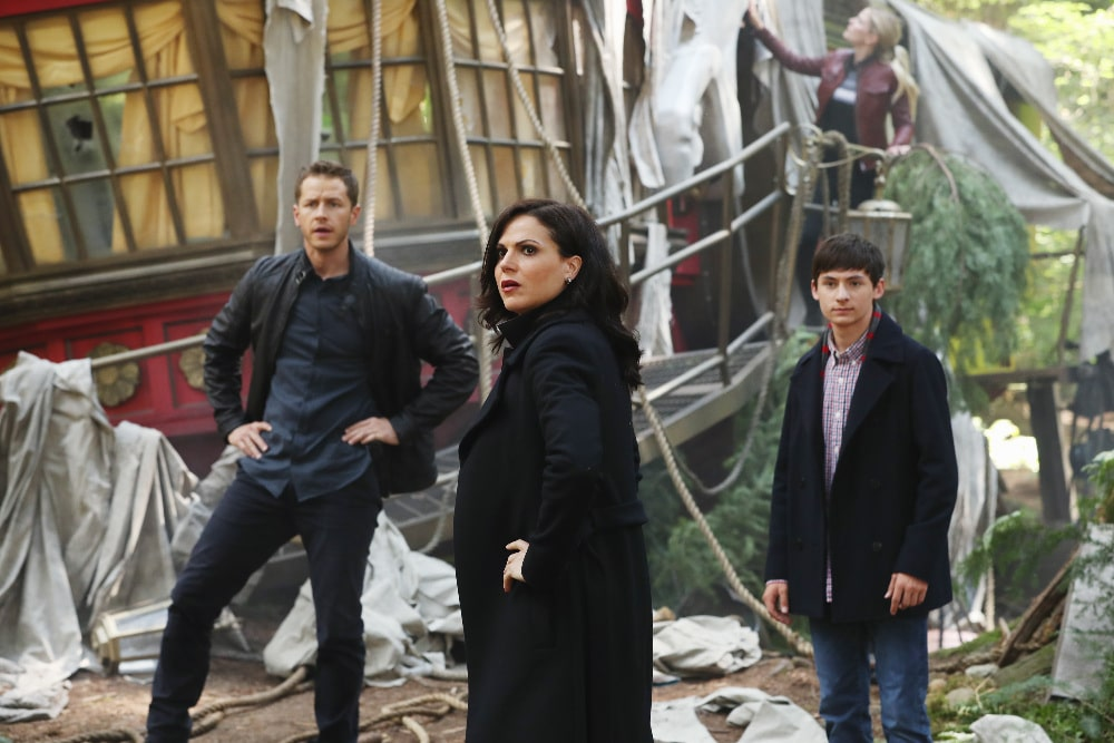 "ONCE UPON A TIME - ""The Savior"" - As ""Once Upon a Time"" returns to ABC for its sixth season, SUNDAY, SEPTEMBER 25 (8:00-9:00 p.m. EDT), on the ABC Television Network, so does its classic villain-the Evil Queen. (ABC/Jack Rowand) JOSH DALLAS, LANA PARRILLA, JARED S. GILMORE"