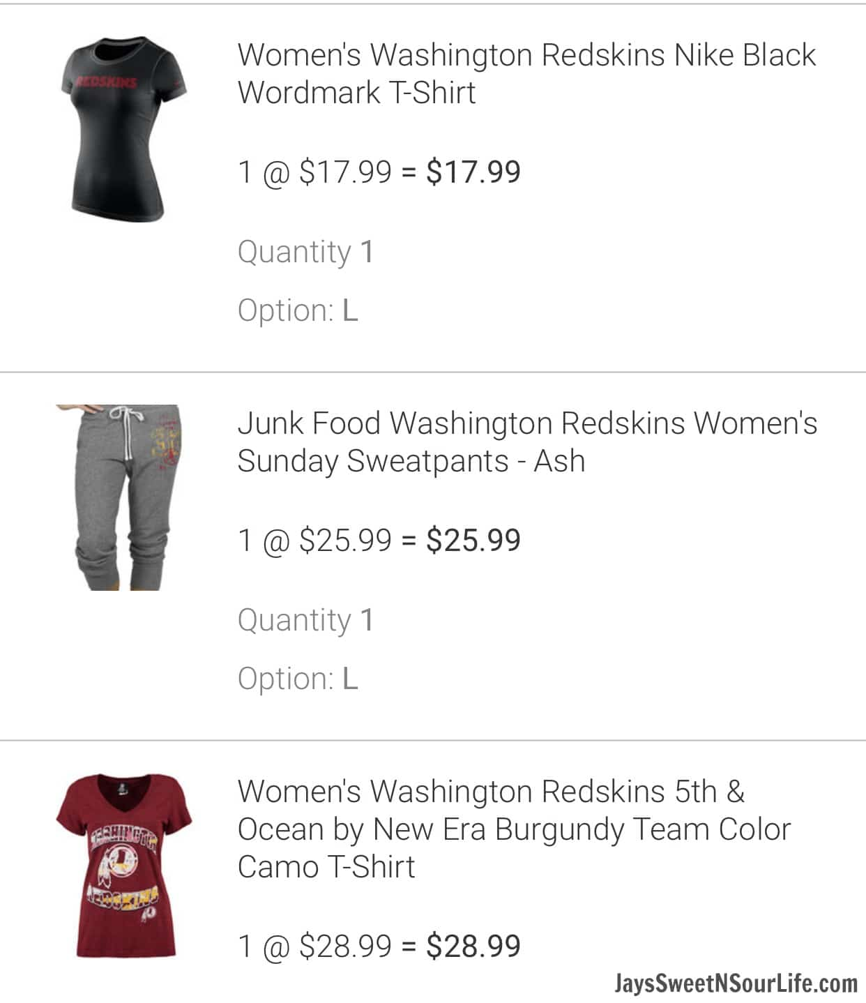 6f472f4a Go Redskins! My Everyday Style - Jays Sweet N Sour Life