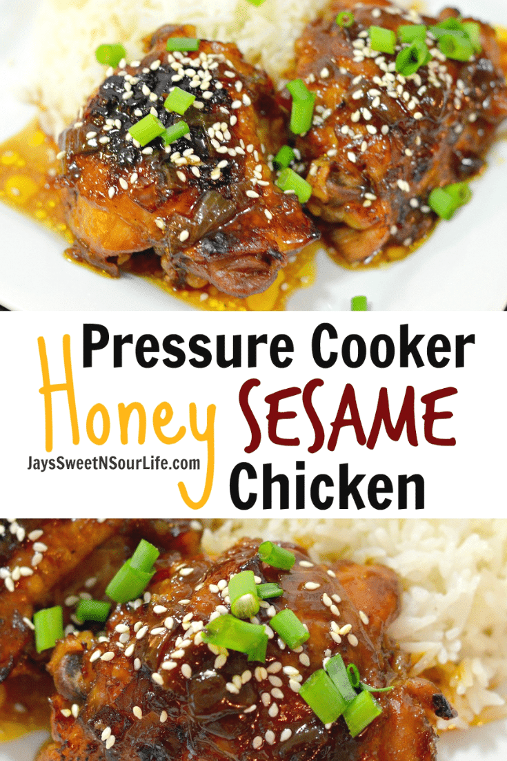 Instant Pot Honey Sesame Chicken. Try my easy to make Pressure Cooker Honey Sesame Chicken recipe. The chicken falls off the bone and the meat is so tender and juicy.