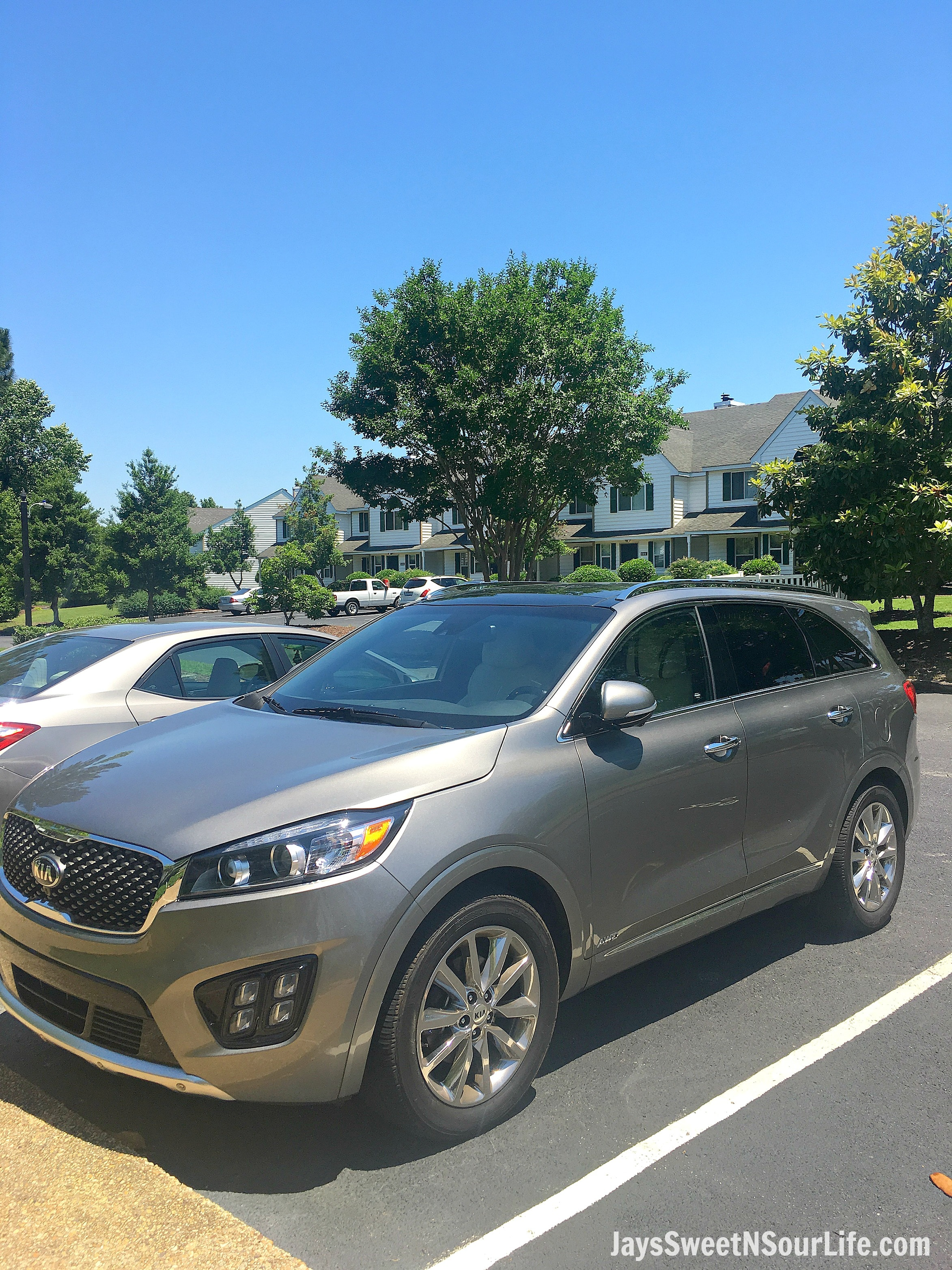 For our road trip we choose to take the 2017 kia sorento crossover suv which seats 7 very comfortably this crossover suv sports adjustable three rows of