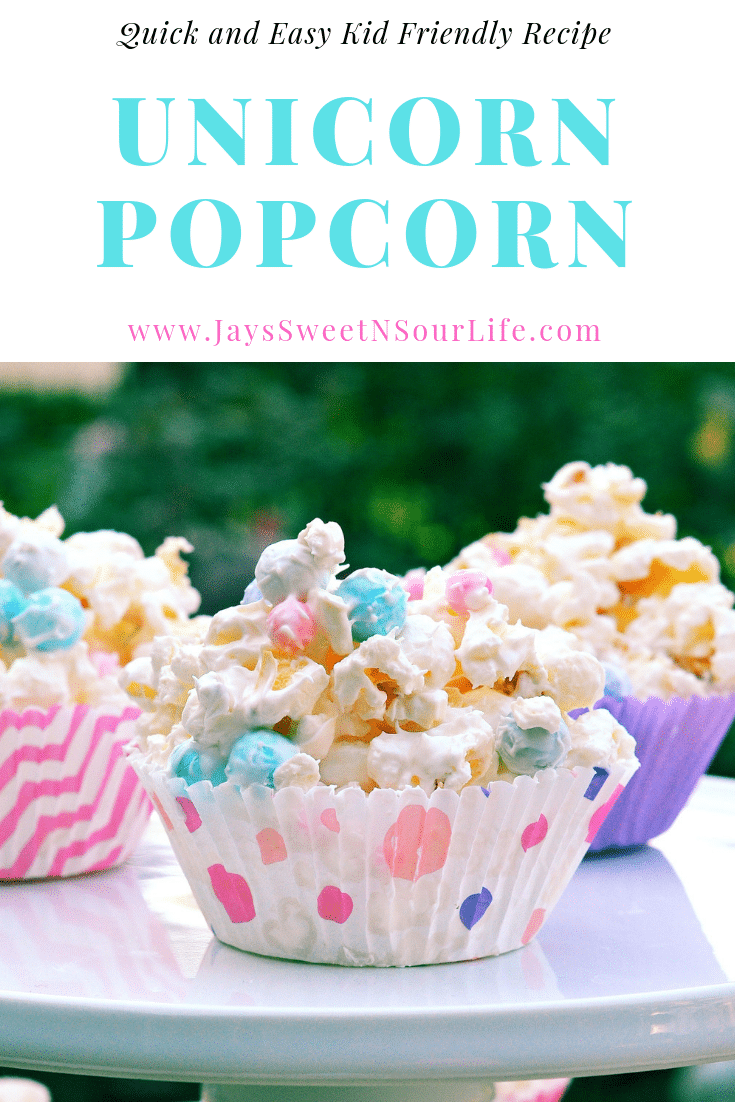 Easy Kid Friendly Unicorn Popcorn Recipe. Bake up some special sweets for your favorite charities. My Unicorn Popcorn is always a hit at our bake sales. It's easy to make and the kids love it.