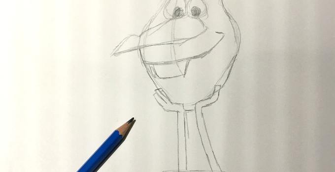My Olaf's Frozen Adventure Drawing Demo Experience in LA