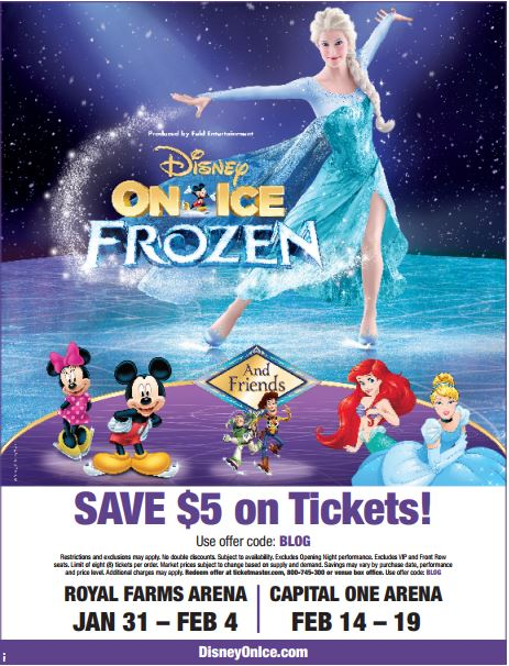 Disney on Ice Presents Frozen will be coming to the Washington D.C. Area Feb 14-19. Find all of your favorite lovable characters in this enchanting adventure.