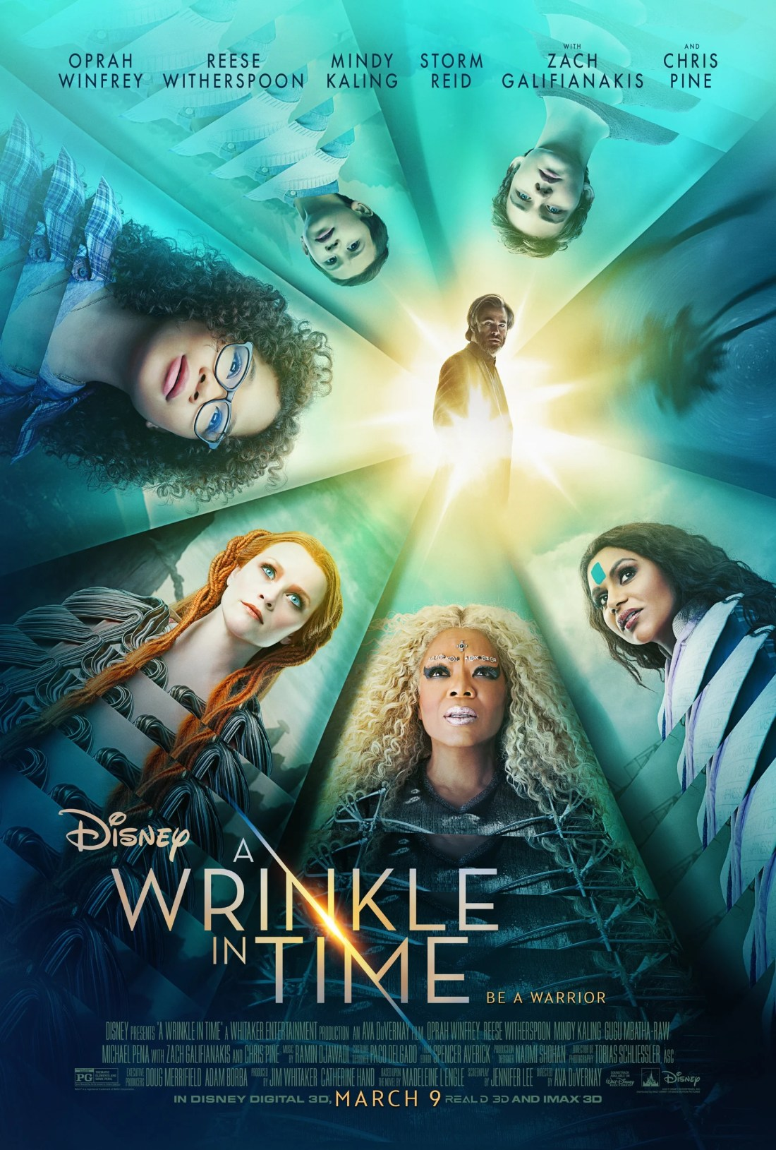 Disney's A Wrinkle In Time Movie Poster, set to release March 9, 2018.