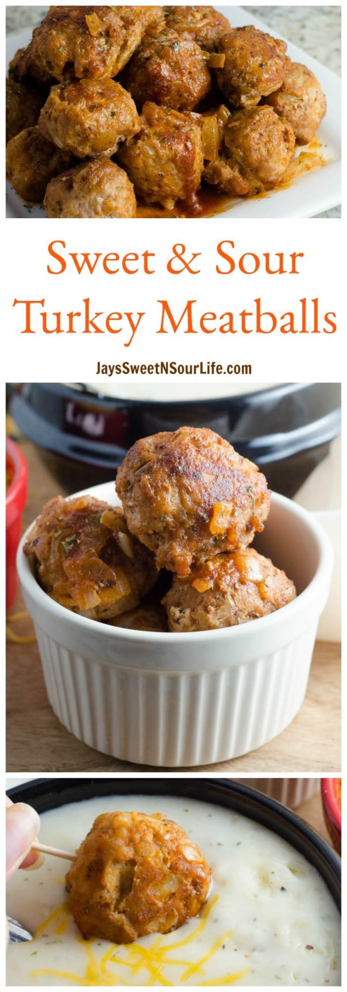 This sweet and sour turkey meatball is an easy 10 minute dinner option. Make ahead and freeze for future meals.