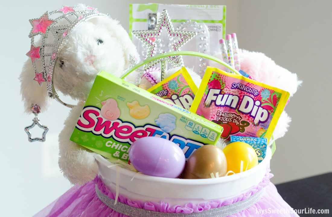 This Princess Easter Basket comes equipped with everything your Princess needs. Packed with princess necessities and Nestle candy of course.