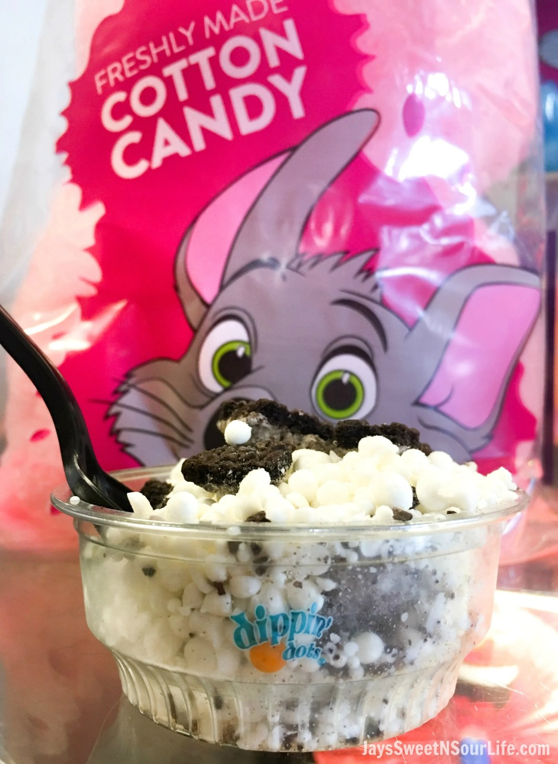 Dippin Dots come with every Chuck e cheeses VIP birthday Party. Book your party today and have guests enjoy 2 hours of unlimited game play.