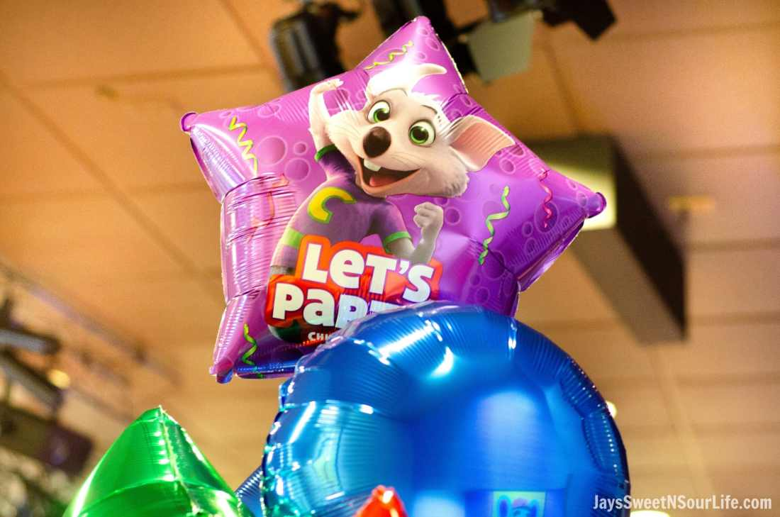 Chuck e cheeses VIP birthday party balloons are included with every party booking. Book your party today and have guests enjoy 2 hours of unlimited game play.