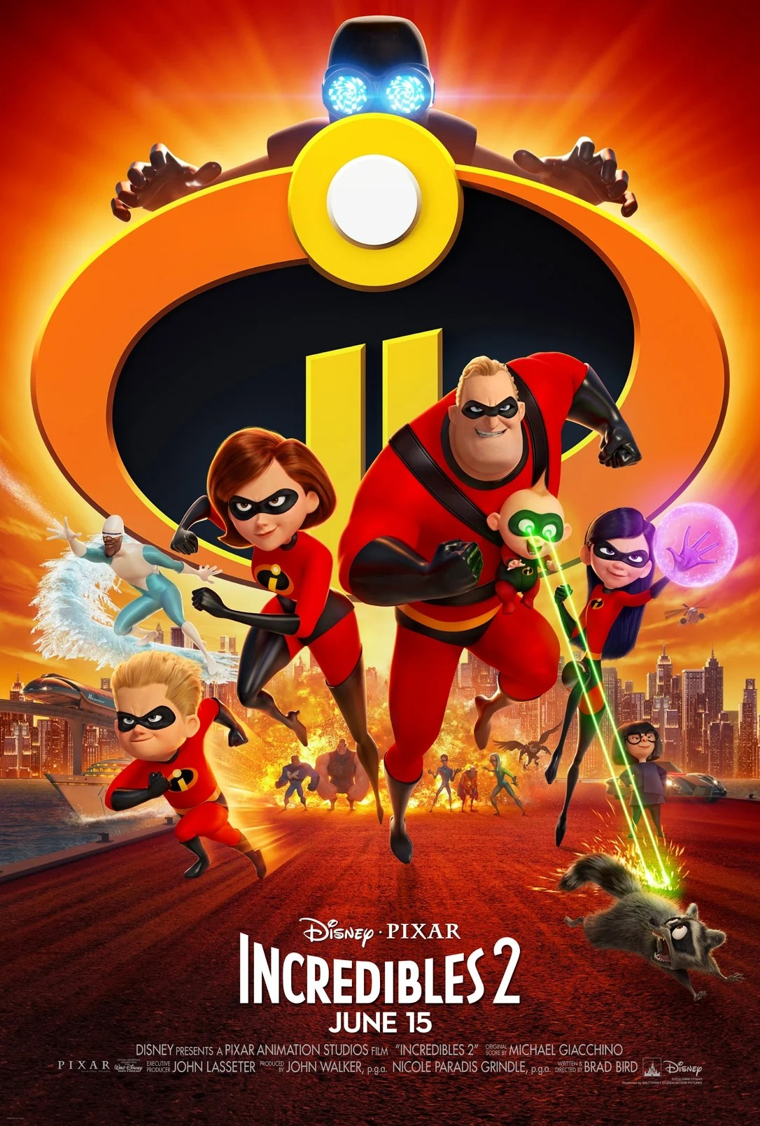 The new Disney Pixars Incredibles 2 Movie Poster. Disney•Pixar's INCREDIBLES 2 that opens in theatres everywhere June 15th!