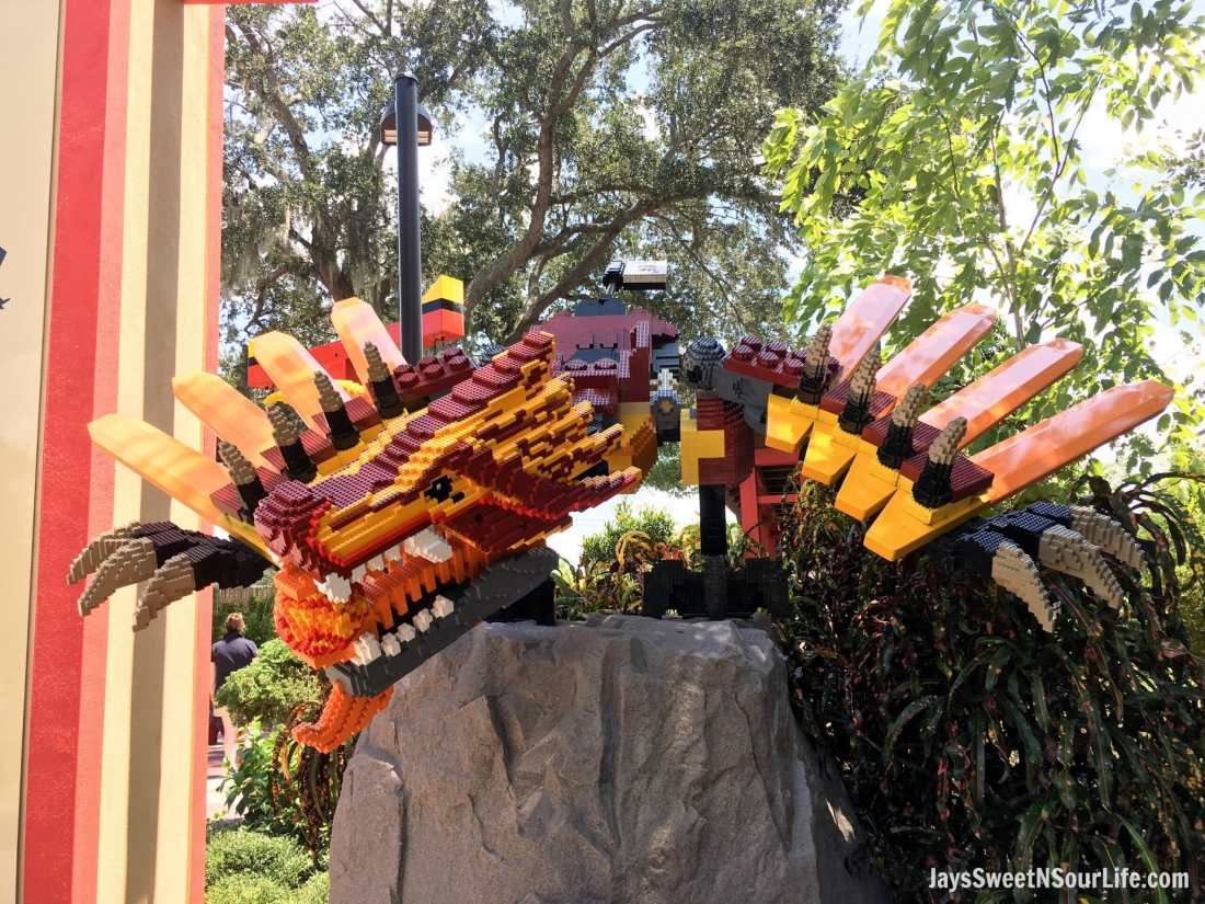 Catch the Legoland Florida Ninjago World Entrance Dragon's when you enter this wonderful world. Spend your summer building memories at Legoland in Florida. There is something for the whole family to enjoy at this wonderful Theme Park.