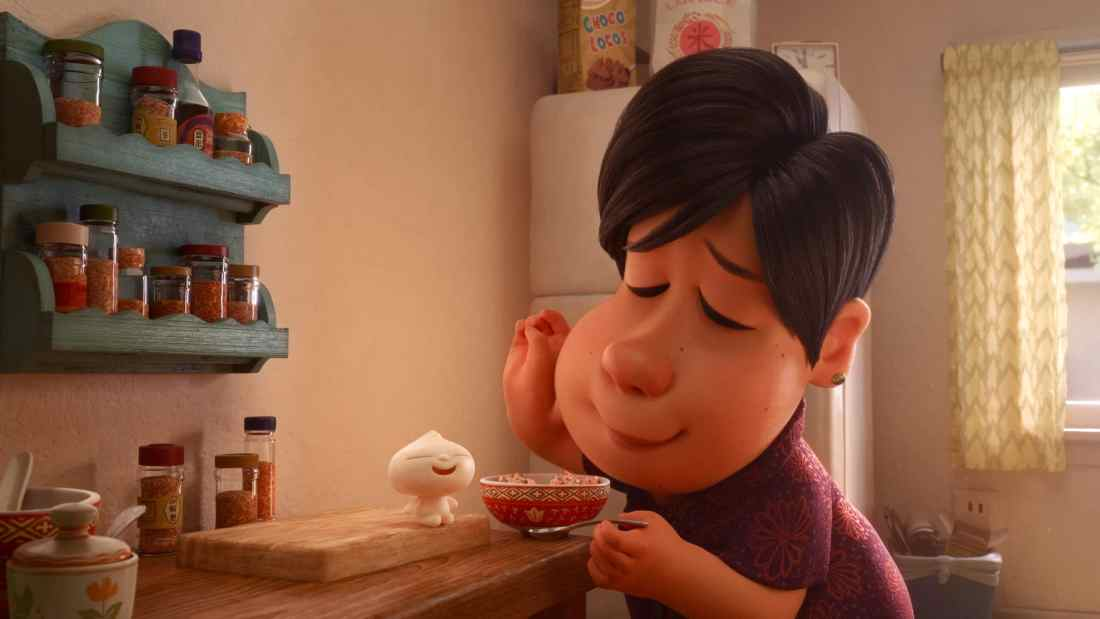 "In Disney•Pixar's new short ""Bao,"" an aging Chinese mom suffering from empty-nest syndrome gets another chance at motherhood when one of her dumplings springs to life as a lively dumpling boy. Her mothering instincts kick in immediately as she lovingly feeds her giggly new bundle of joy."
