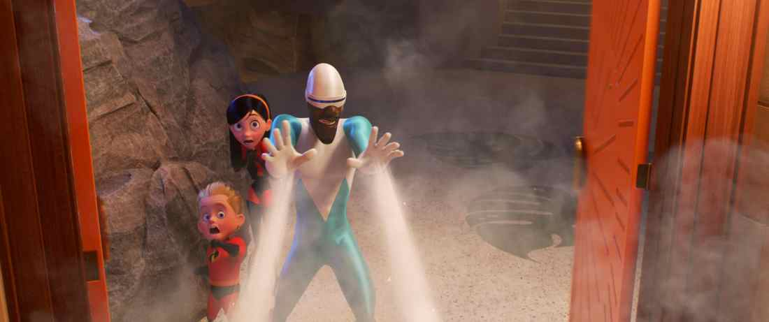 "Frozone is back in ""Incredibles 2,"" cooler than ever and lending a helping hand when the Parrs need him most. Featuring the voices of Huckleberry Milner as Dash, Sarah Vowell as Violet ad Samuel L. Jackson as Frozone aka Lucius Best,"