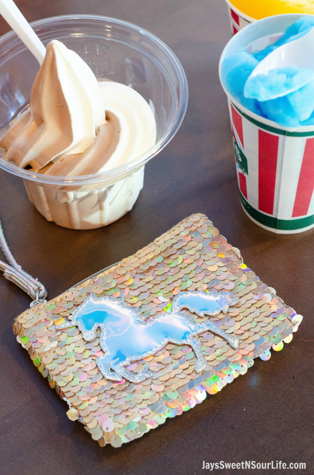Justice Back To School Unicorn Wallet Lifestyle Ice Cream. Back To School Must Have Fashion For Tweens via JaysSweetNSourLife.com