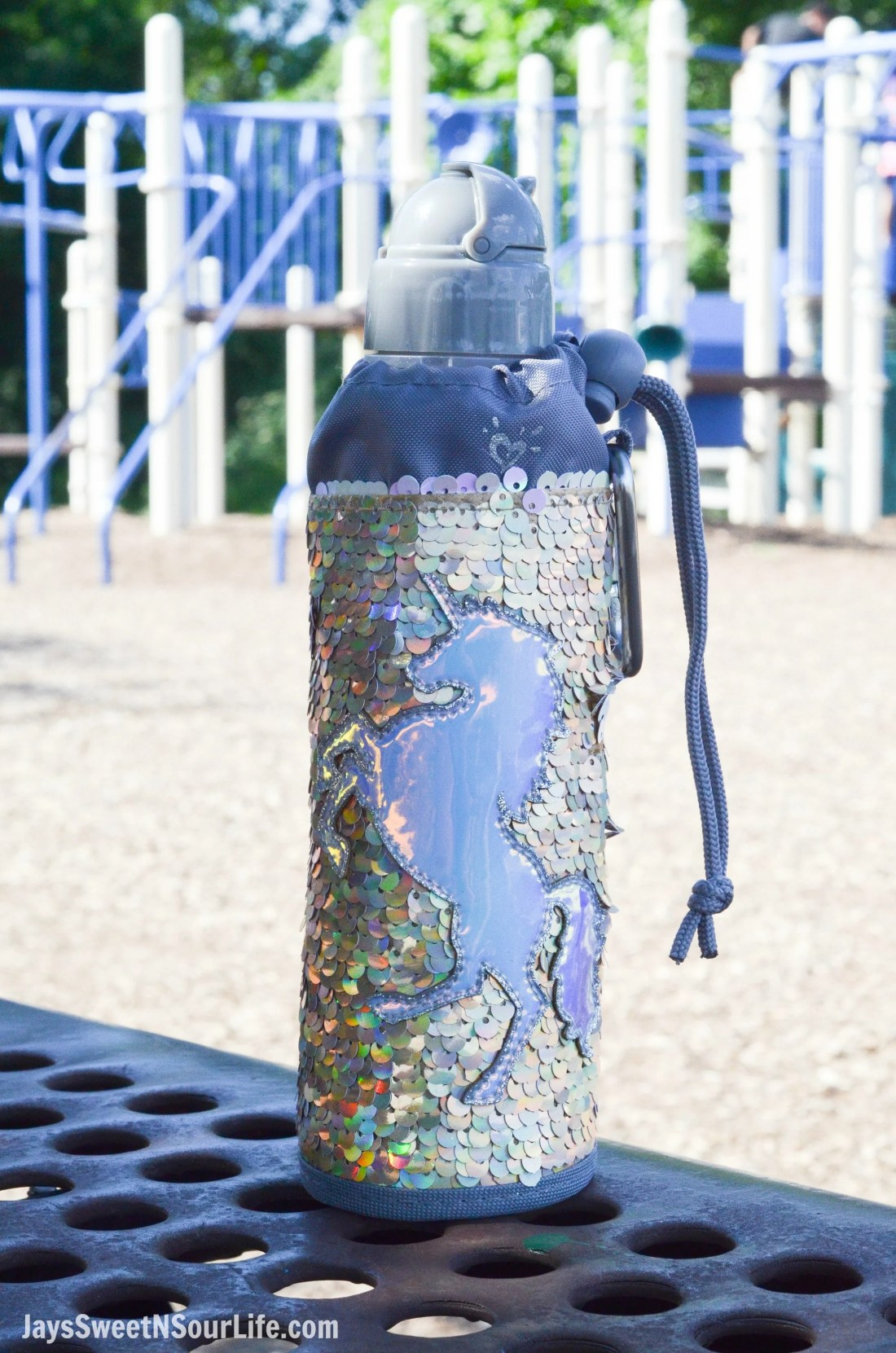 Justice Back To School Unicorn Waterbottle. Back To School Must Have Fashion For Tweens via JaysSweetNSourLife.com