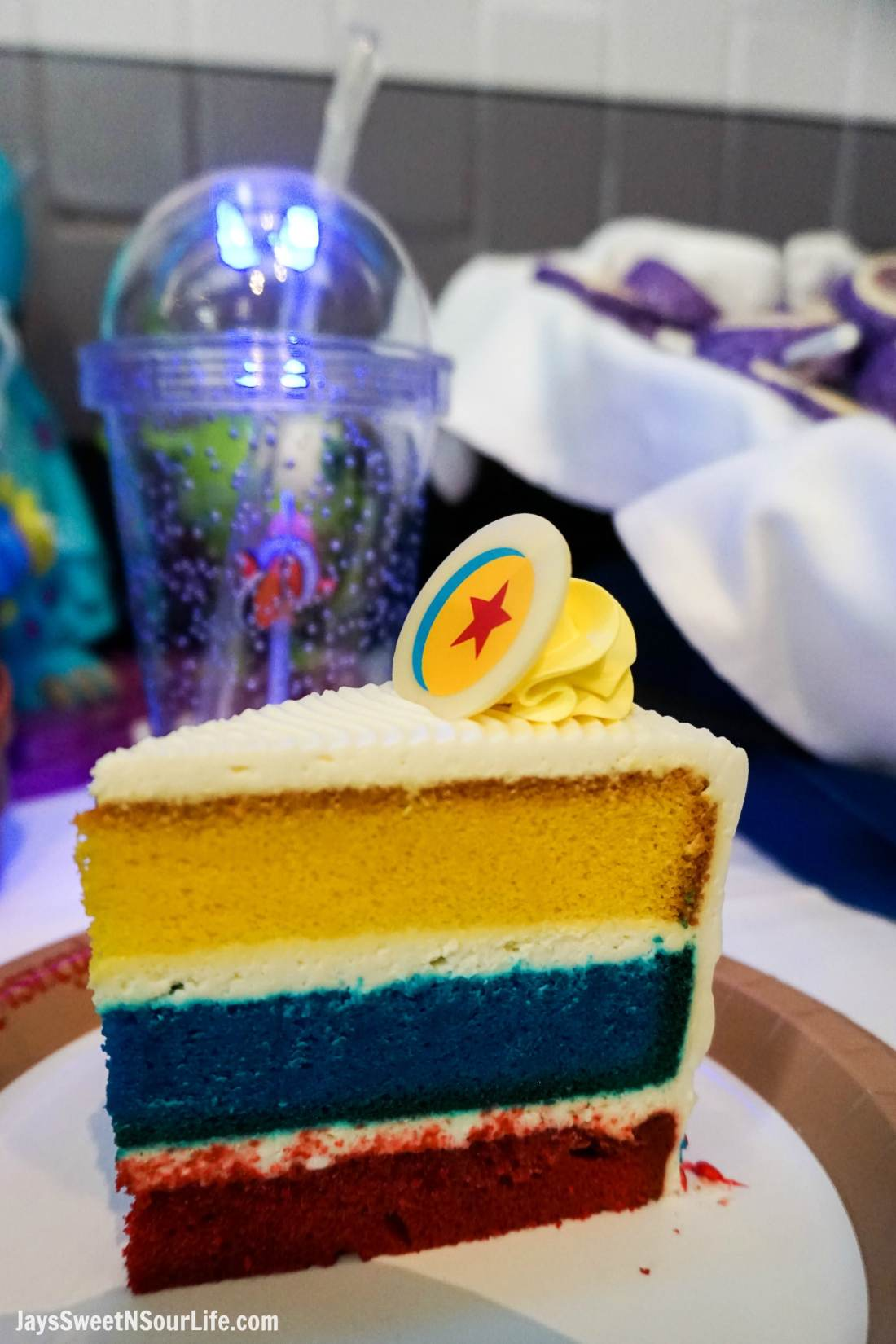 Pixar Fest Celebration Cake. Pixar Fest at Disneyland runs from April 13 through September 3rd.