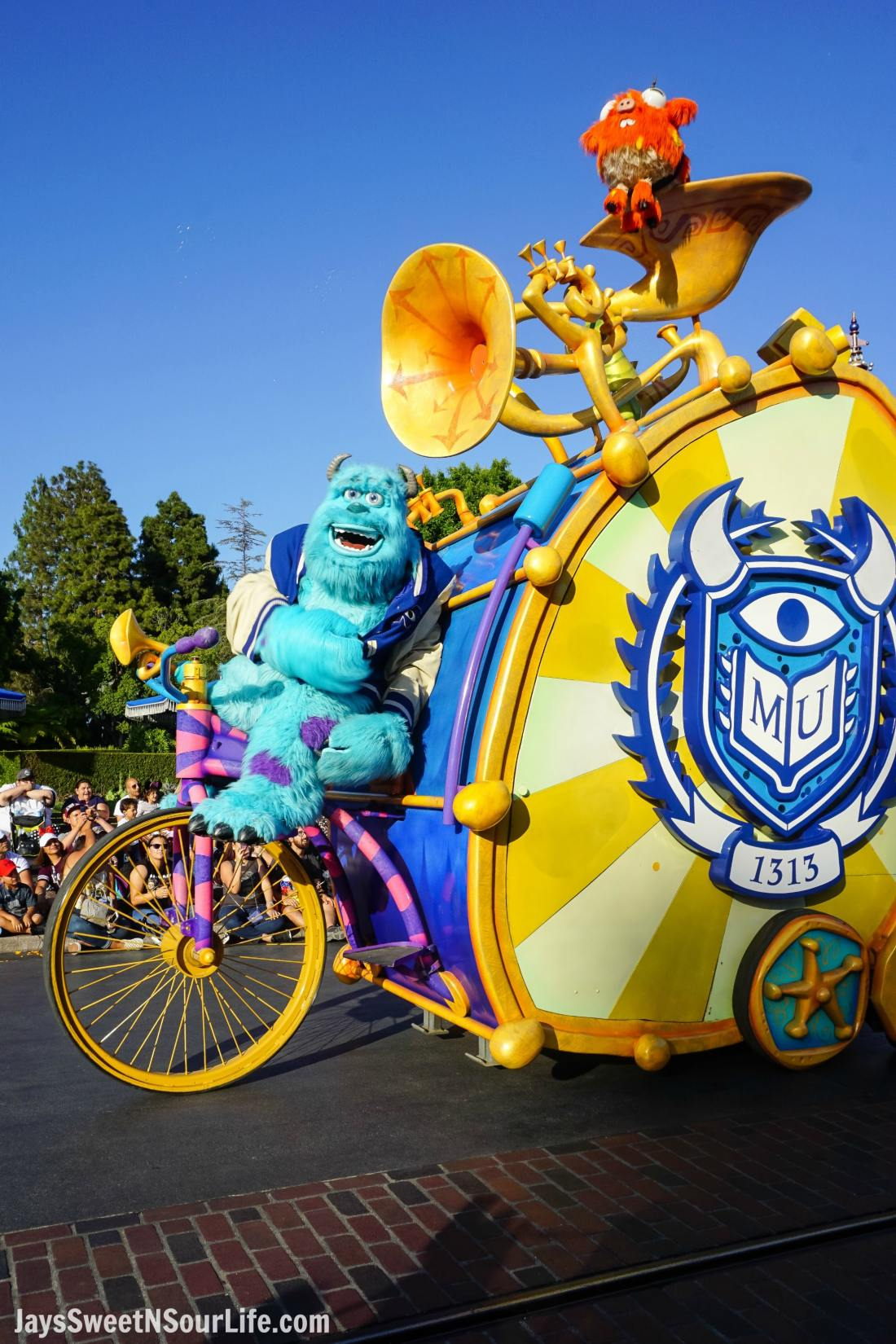 Pixar Play Parade at Disneyland Toy Story Float. Pixar Fest at Disneyland runs from April 13 through September 3rd.