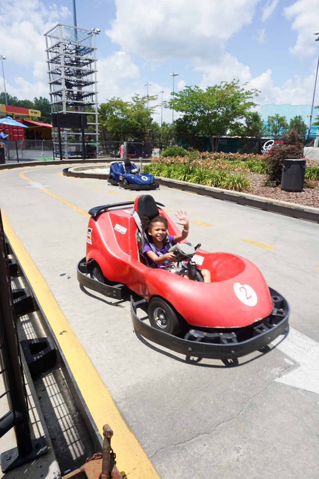 SpeedPark - Visit Cabarrus County Little GIrls Racing. Read more about our Racing Good Time at The Speedpark in Concord Mills North Carolina.