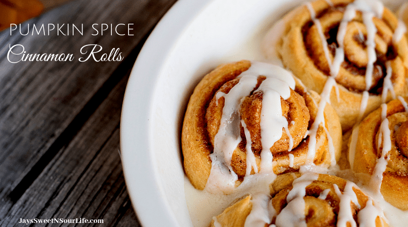 Easy to make and oh so delicous, perfect for home made Saturday Morning breakfasts. Fill your home with the delicious smell of these easy to make Pumpkin Spice Cinnamon Rolls.