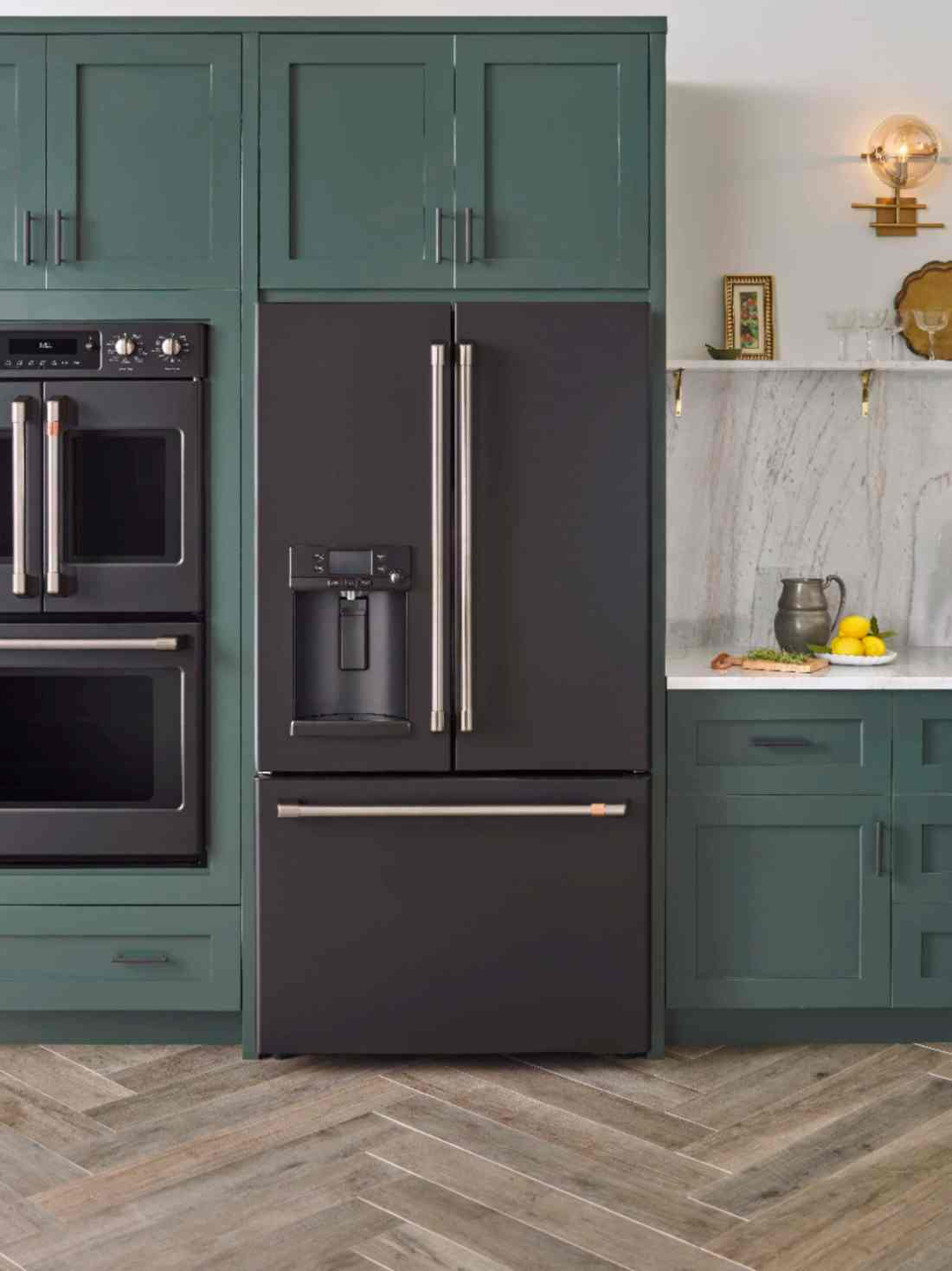 Black Matte GE Kitchen fridge Modern Kitchen Idea. Introducing the Café Matte Collection from GE, a collection of modern kitchen appliances that you can customize. Find them at your local Best Buy.
