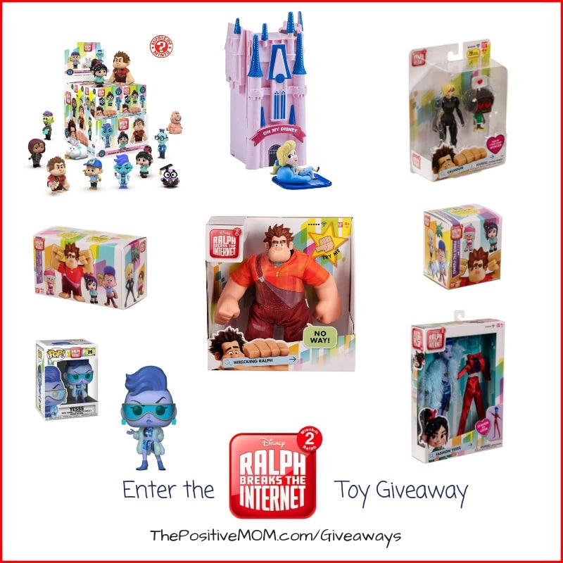 Enter to win in our Ralph Breaks The Internet Prize Pack Giveaway. There are so many prizes to win, with a combination value of over $130! Giveaway Ends November 24, 2018.