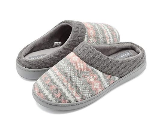 Fanture Womens Memory Foam Slippers. Exquisite and breathable sweater knit upper with embroidered pattern and ribbed hand-knit collar, just as cozy as your favorite sweater. Read more about the hottest gifts of the season on my blog.