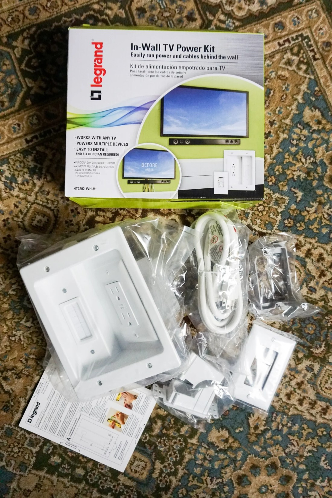 Legrand - In-Wall TV Power Kit Whats Inside. Hide those ugly TV Cables with the Legrand - In-Wall TV Power Kit, read the full review..