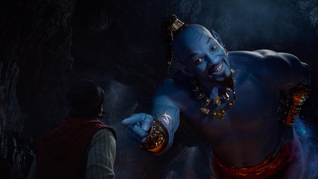 Aladdin Will Smith as the Genie. Take a Special First Look At Disney's Aladdin, plus see Will Smith As The Genie! Never before seen footage and photos of the film are now available.