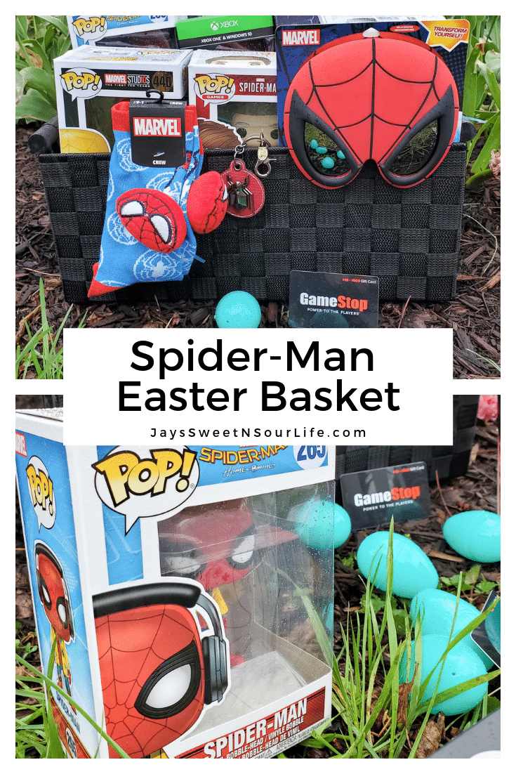 Spider-Man Easter Basket. Build your very own Spider-Man themed Easter Basket with a little help from your One-Stop-Shop GameStop. Gamestop has everything you need to build the ultimate Easter Basket for your teenager.
