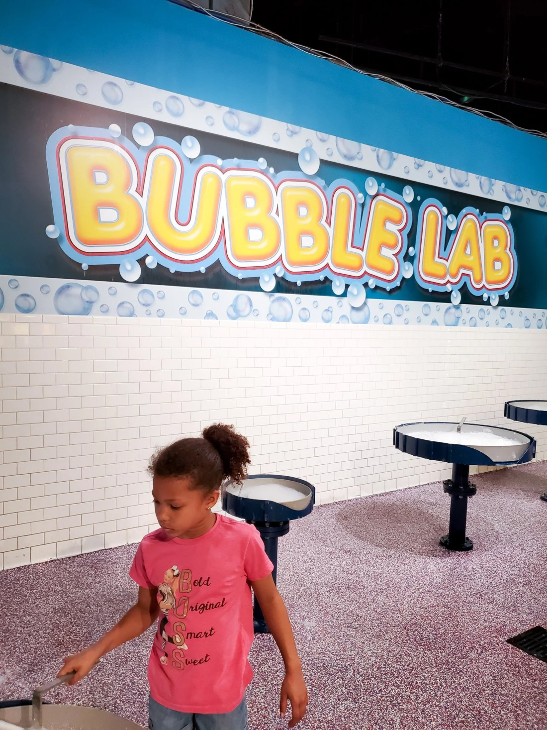 """WonderWorks Bubbles Lab. One of the topthings to do in Pigeon Forge, WonderWorks Indoor Amusement park, is one of the bestPigeon Forge Attractions. With over 35,000 square feet of """"edu-tainment,"""" WonderWorks is an amusement park for the mind. Read our full review on the blog."""