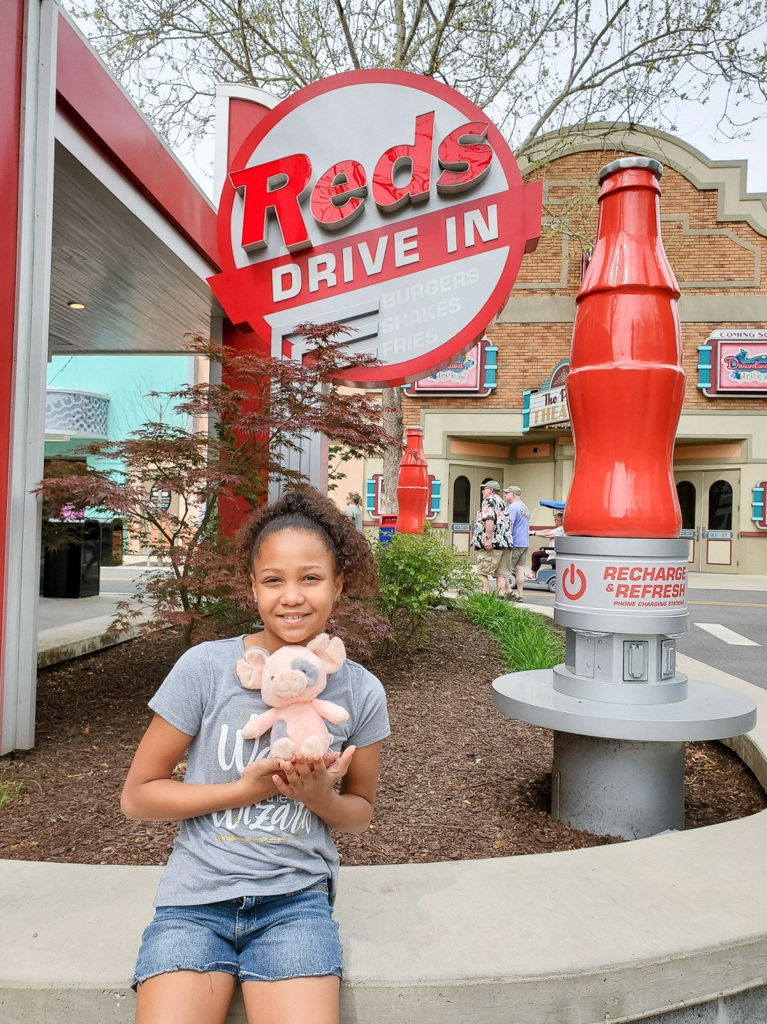 Red's Drive In Dollywood. My family spent the day playing and eating at the Dollywood theme park, and we are happy to report we had a blast! Read all about our trip and learn why Dollwood is a must visit destination while you are in Pigeon Forge, TN.