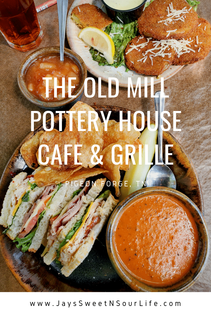 The Old Mill Pottery House Cafe & Grille Review. The Pottery House Cafe serves freshly made sandwiches, salads, and hearty entrees on dishes created by our potters right next door. Read my full review which includes photos of this beautiful and delicious location in Pigeon Forge, TN.