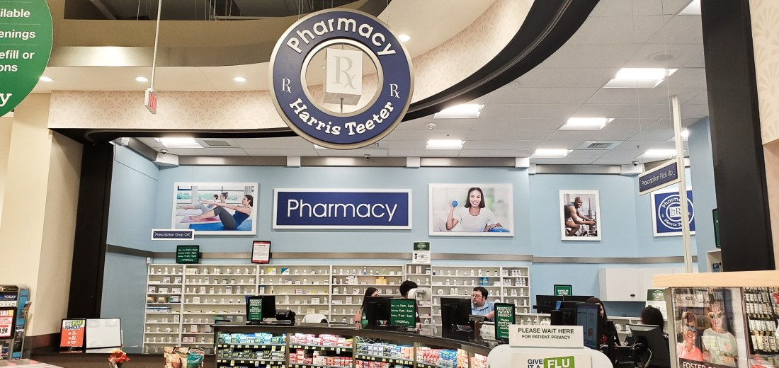 Harris Teeter Pharmacy. Pickup your families perscriptions at your local Harris Teeter Pharmacy. Earn fuel points on transfered perscriptions and also gain access for flu shots for the whole family.