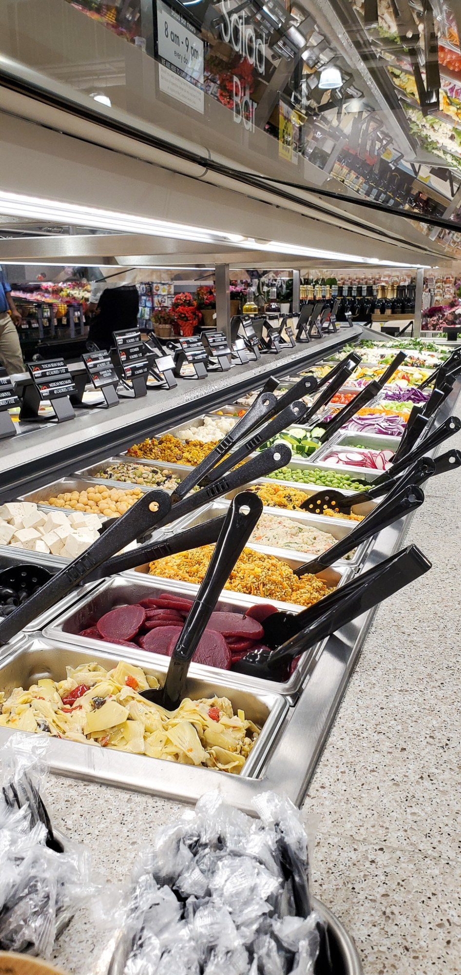Harris Teeter Cold Bar. If your family is as busy as mine, then the Fresh Foods Market is a great place for you to grab freshly made meals and snacks. There is something for the whole family in this section, everything from Store-made Pizza to hand-rolled sushi.