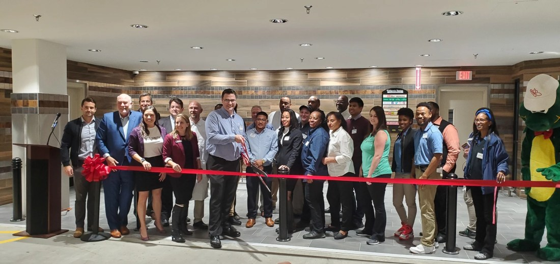 Harris Teeter Ribon Cutting Ceremony. The Ribon cutting ceremony at the George Mason Harris Teeter Location. in Arlington, VA. October 22, 2019.