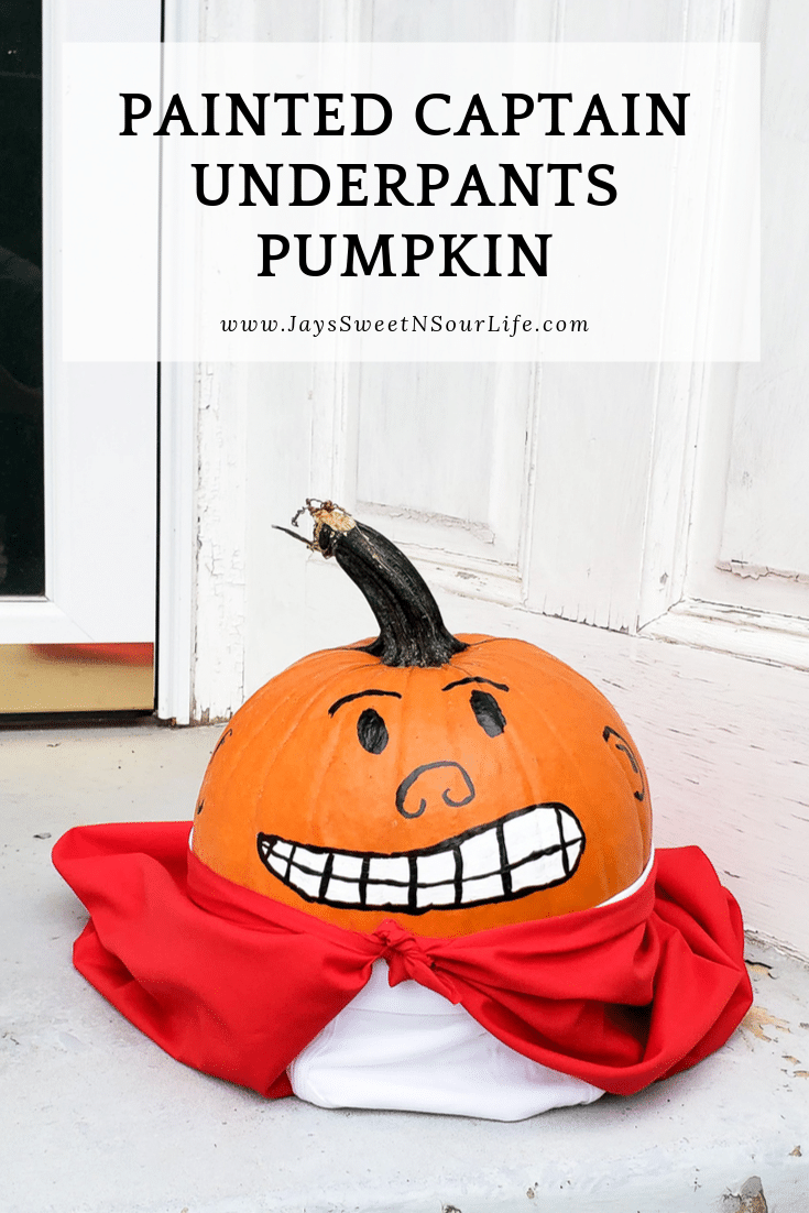 Painted Captain Underpants Pumpkin. Skip the mess and create your very own Painted Captain Underpants Pumpkin this Halloween. In celebration of Dreamworks's The Spooky Tales of Captain Underpants: Hack-A-Ween Halloween special streaming now on Netflix we created this fun painted halloween pumpkin.
