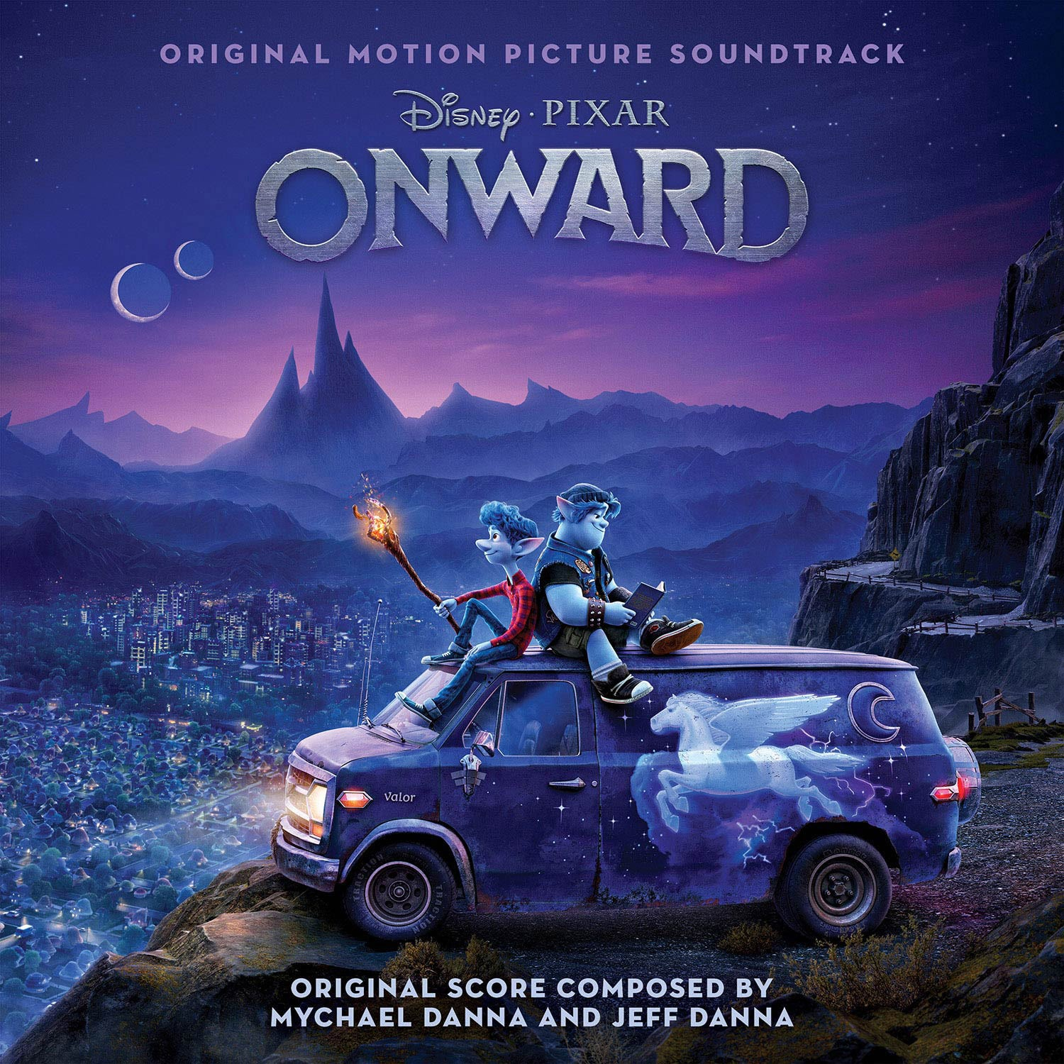"Disney's Onward Soundtrack Cover Art. Five-time GRAMMY® Award-winning singer/songwriter Brandi Carlile has been tapped to perform an emotionally poignant song, ""Carried Me With You,"" for the end credits of the upcoming Disney and Pixar film ""Onward."""