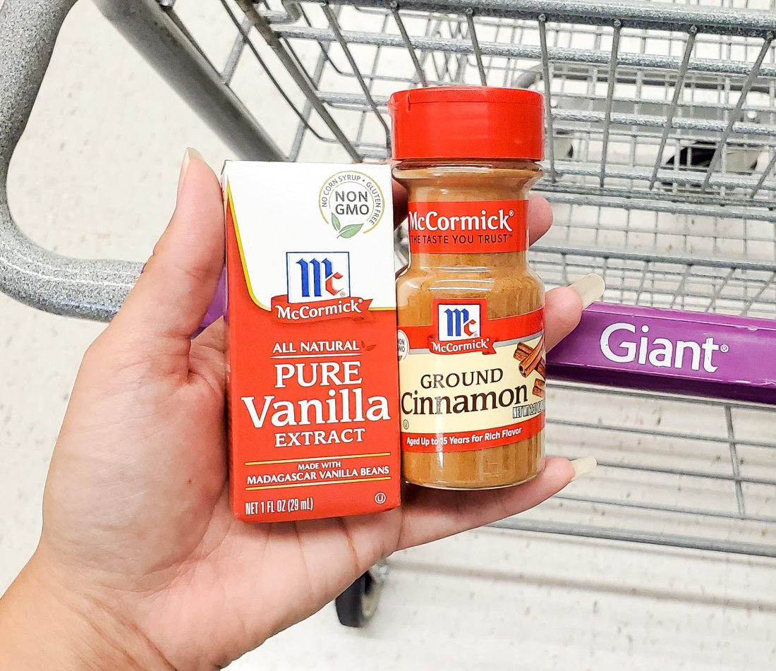 McCormick Spices in Giant. Mix up something delicious for your family this coming up holiday. Indulge in a warm cup of my Almond Milk Butterbeer Latte with a side of Sticky Toffee Pudding.