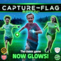 Capture the Flag REDUX. This game pumps up the excitement of the classic outdoor game Capture the Flag with glowing lights and new styles of play. Experience it anywhere with space to run after sunset or inside with the lights off.