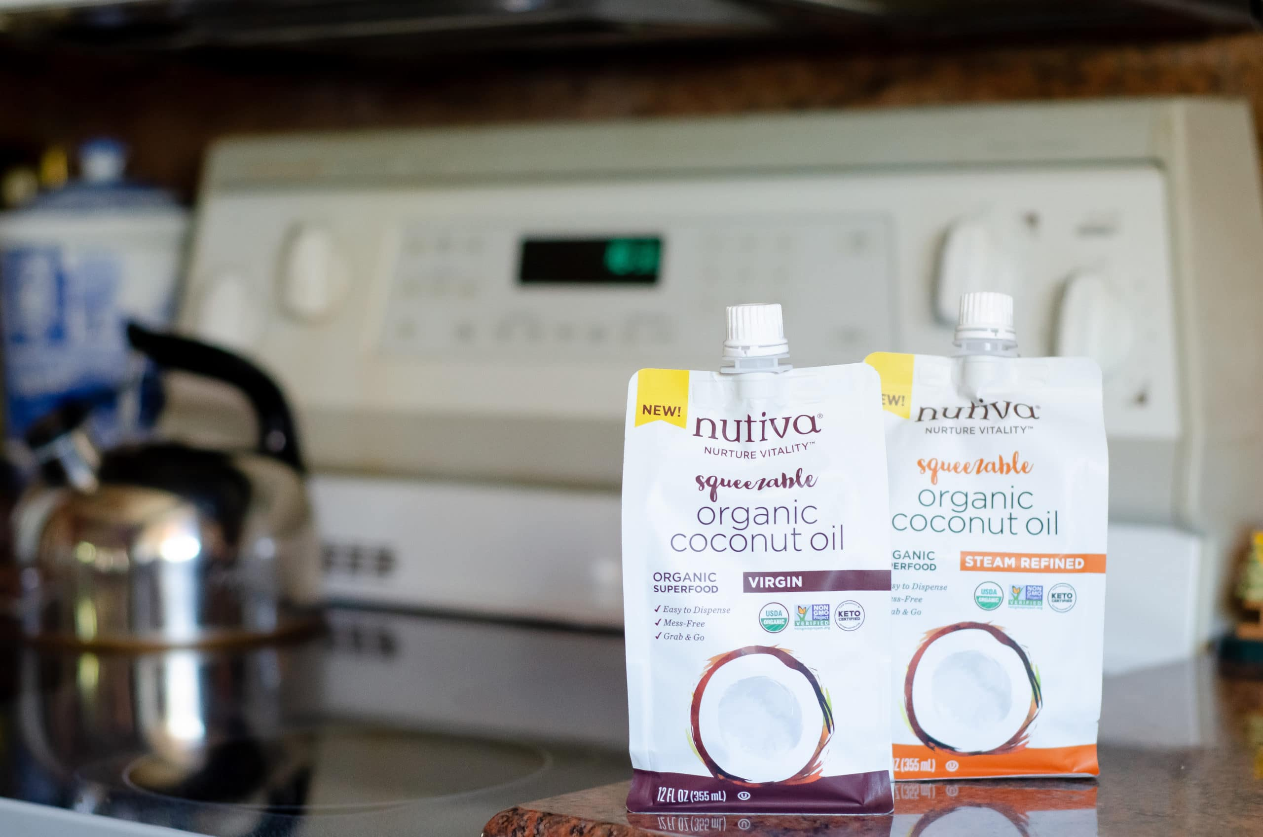 Nutiva Squeezable Organic Coconut Oil. Gift your hostess a Thanksgiving themed box of goodies. Gift them products they can use on Thanksgiving Day as well as after.