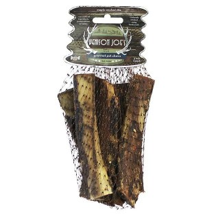 "Venison Joe's HIckory Smoked Bones. Give your pooch the long-lasting chew he craves with the Venison Joe's Hickory Maple Smoked 5"" Beef Rib Dog Treat. Designed to be gradually worn down, this 100% all-natural beef rib provides plenty of chewing time to satisfy your dog's gnawing instincts."