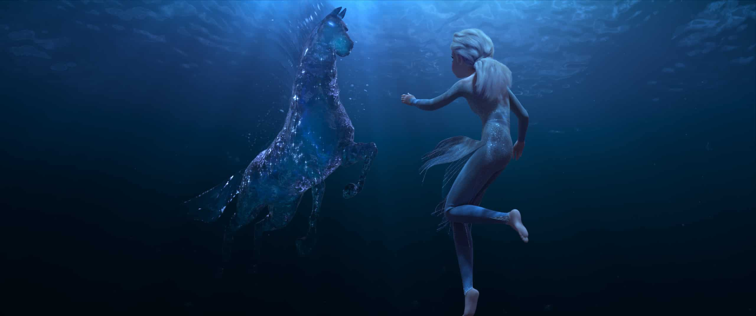 "Elsa encounters a Nokk—a mythical water spirit that takes the form of a horse—who uses the power of the ocean to guard the secrets of the forest. Featuring the voice of Idina Menzel as Elsa, ""Frozen 2"" opens in U.S. theaters November 22"