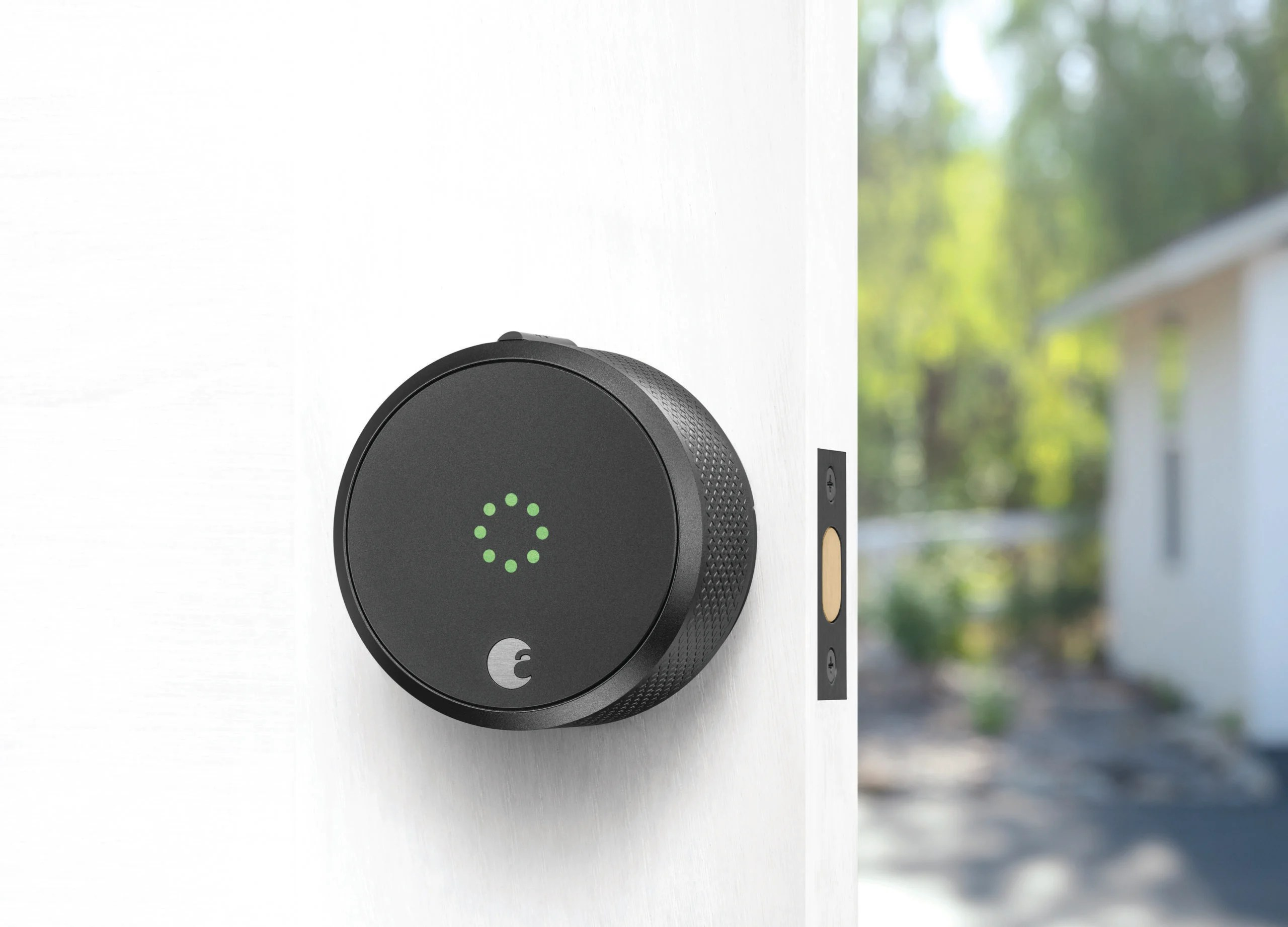 August Smart Lock Pro + Connect Wi-Fi Bridge. The smart lock that lets you manage access to your home from your phone (lock/unlock remotely; grant holiday visitors access when they arrive or keep an eye on your home while traveling).
