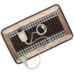 VYV WELLNESS Deluxe Infrared Tourmaline Stone Heating Therapy Mat with Remote Control and Travel Bag. Each mat is 17 x 30 Inches, extra large and should cover the surface area of the back from the neck and shoulders to the lower back for an all over treatment.