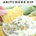 Instant Pot Spinach Artichoke Dip. Three cheers for Instant Pot Spinach Artichoke Dip! This tasty dip features three different kinds of cheese and oh so much flavor.