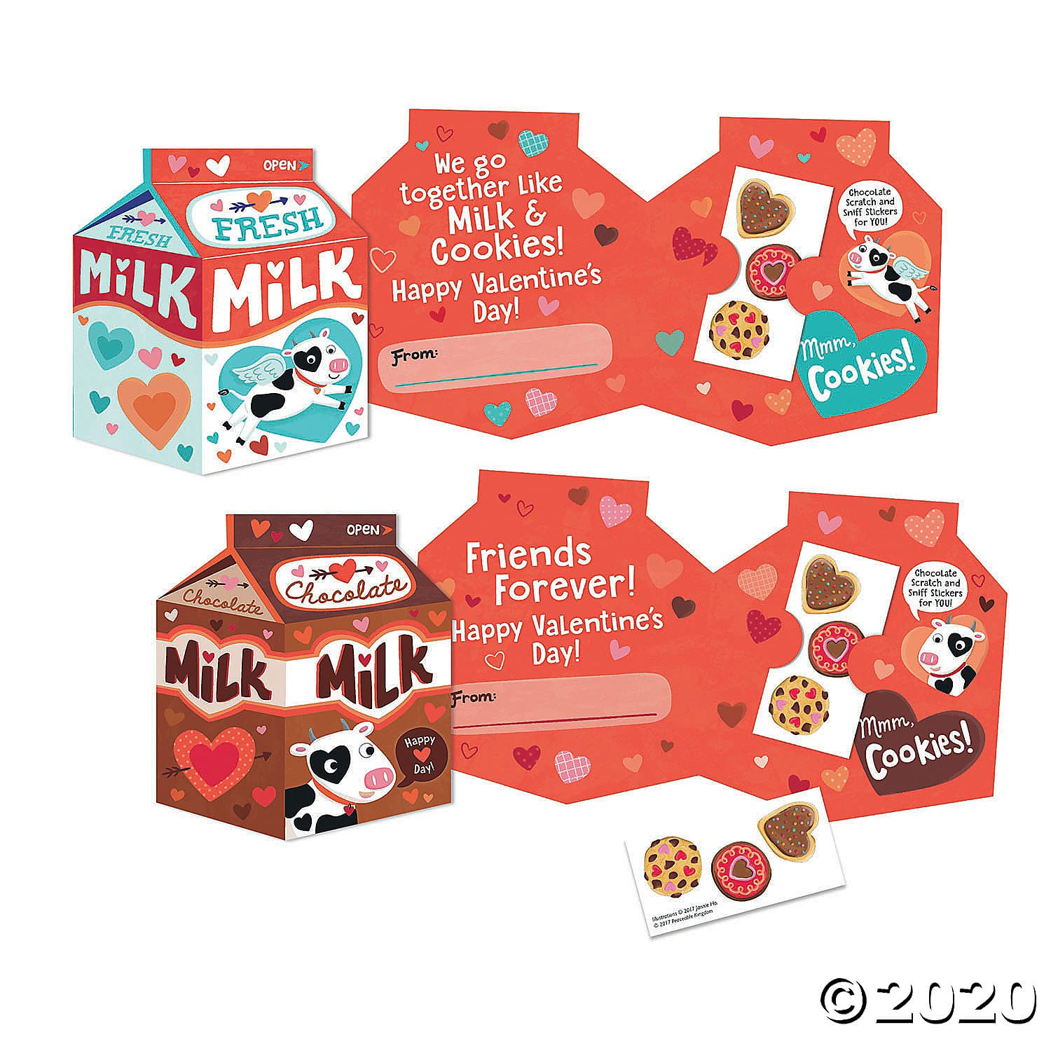 Milk & Cookies Scratch And Sniff Super Fun Valentines Pack. Featuring 28 cleverly designed cards with real envelopes, the Super Valentine Fun Pack lets your child give more than just a greeting - they get to give FUN! 2020 Valentine's Day Gift Guide from Jays Sweet N Sour Life Blog.