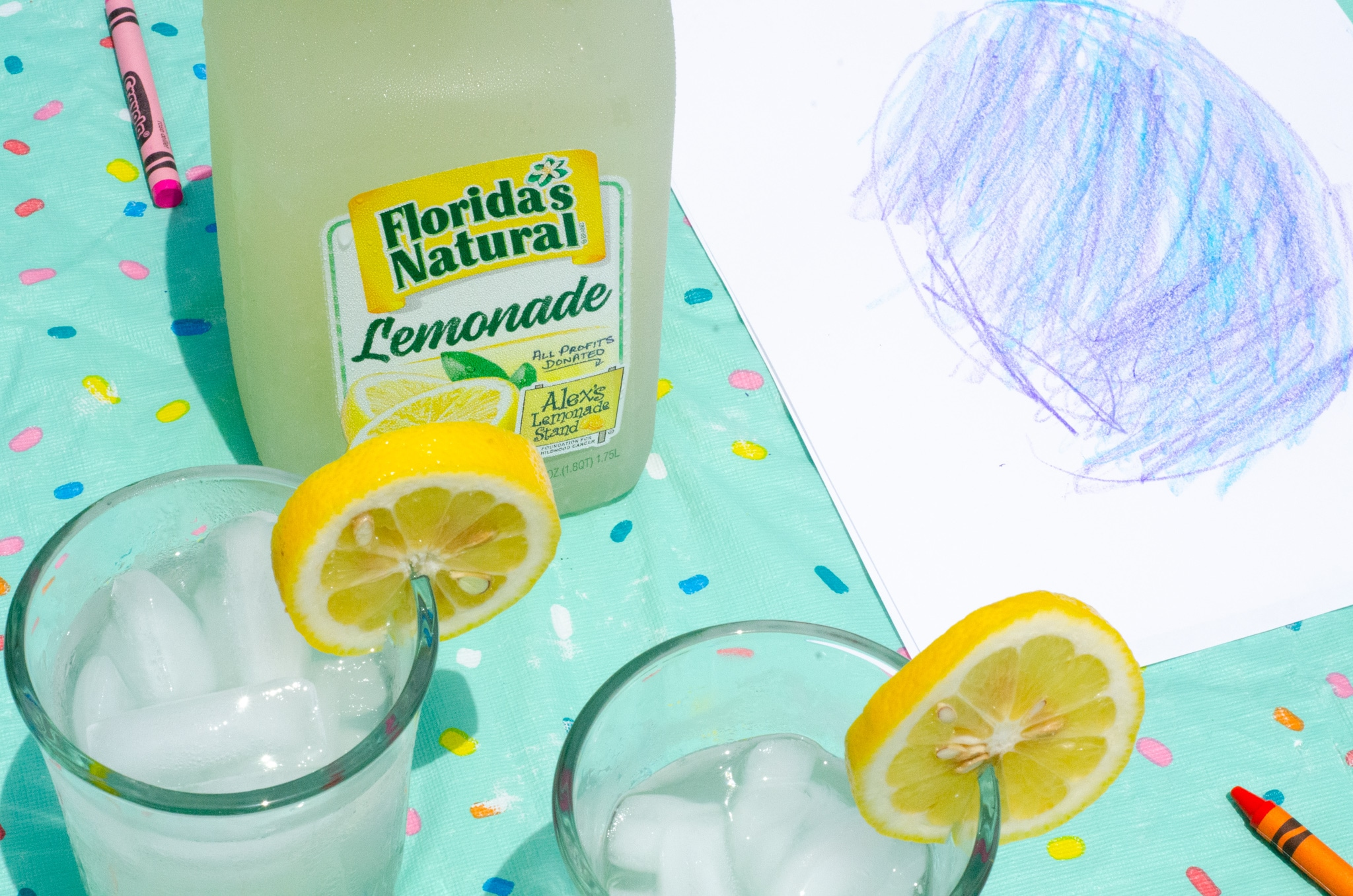 Lemonade Inspired Art Overlook. Looking for a fun way to keep the kids entertained this summer? Celebrate the start of summer with Lemonade-Inspired Art In the Backyard.