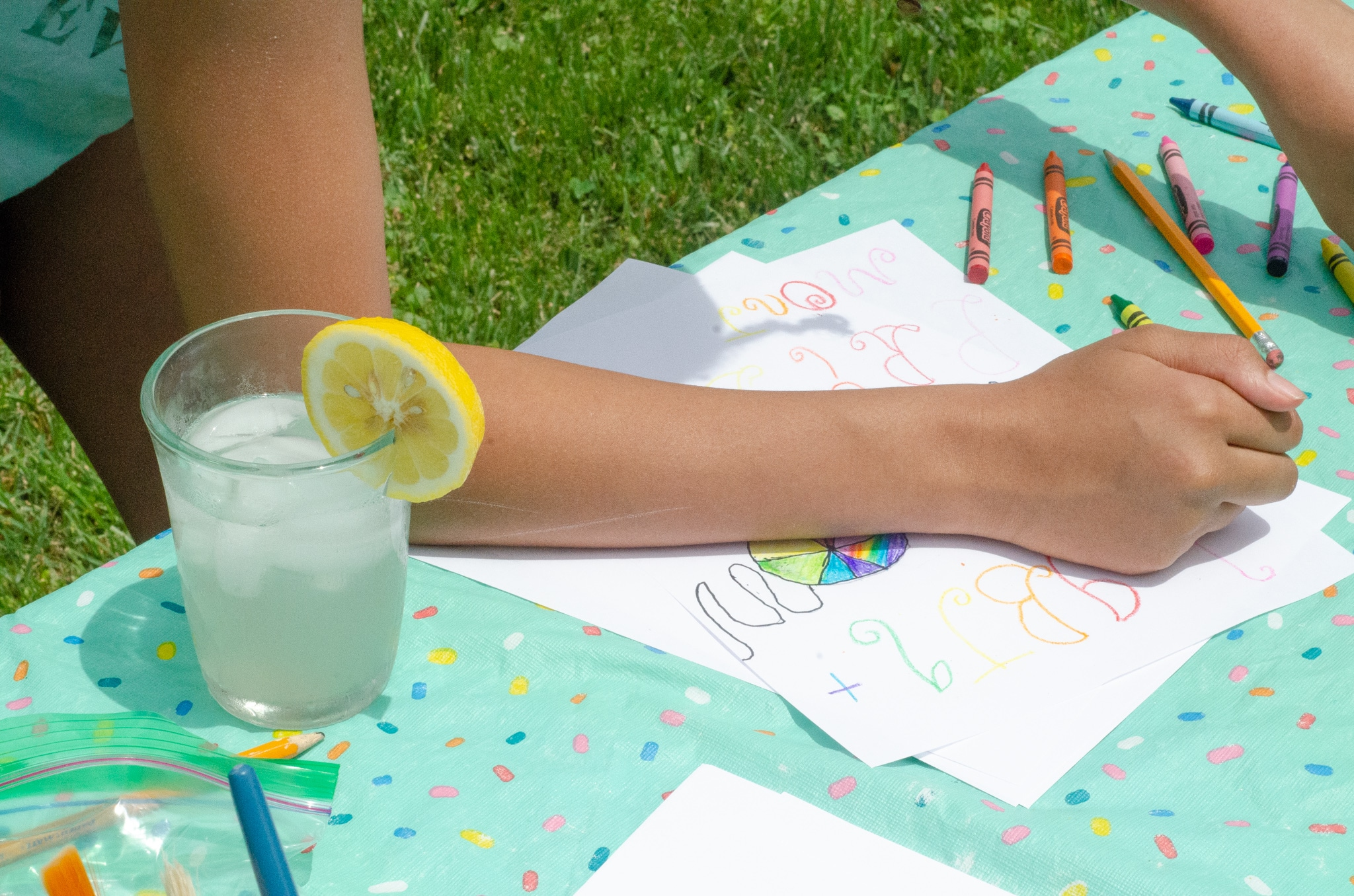 Lemonade Inspired Art Keturah Coloring. Looking for a fun way to keep the kids entertained this summer? Celebrate the start of summer with Lemonade-Inspired Art In the Backyard.