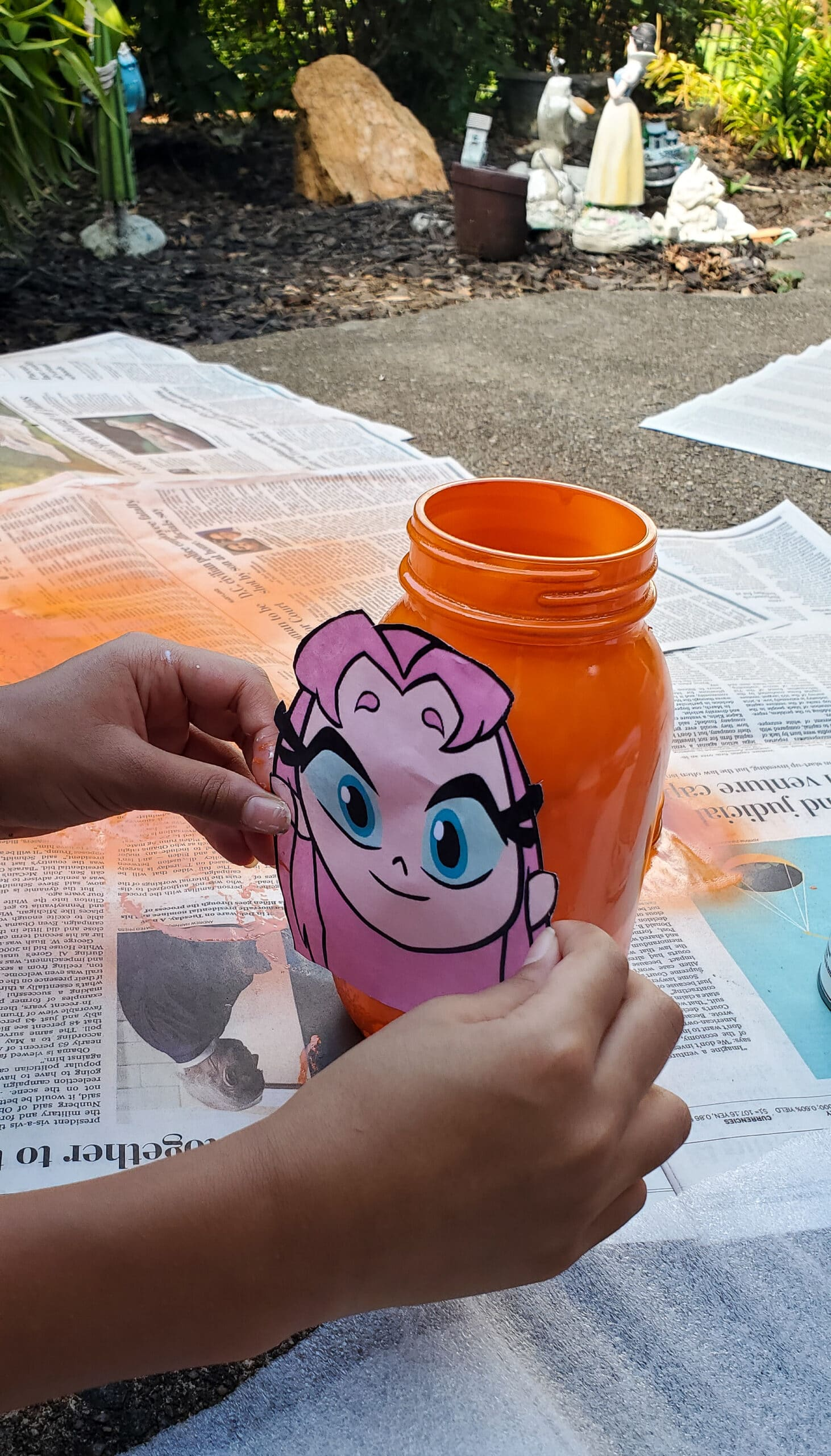 Teen Titans Go!Character Banks Applying Characters. It's week 5 at Camp Warner Bros.! It's time to get crafty with this week's activity Teen Titans Go! Vs. Teen Titans Character Banks. Grab your printables on my blog, along with some more supplies to create your very own Teen Titans Go! vs Teen Titans Character Banks.